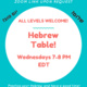 Hebrew Table