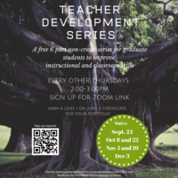 Graduate Teacher Development Series | Graduate Education & Life