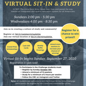 Virtual Sit-In & Study Challenge Flyer