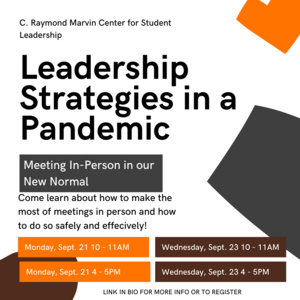 Leadership Strategies in a Pandemic - Meeting In-Person in our New Normal