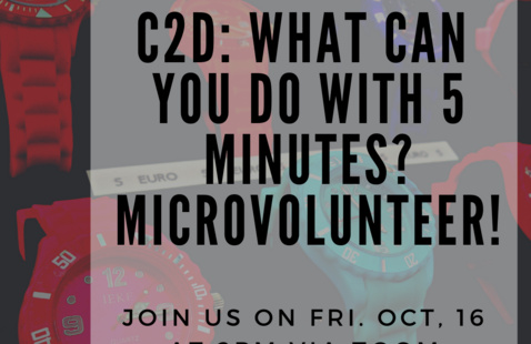 C2D: What can you do with 5 Minutes? Microvolunteer!