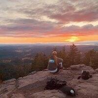 Sunset over Eugene from Spencer Butte