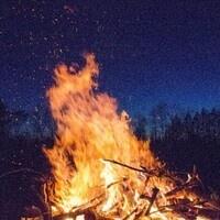 Bonfire and Camping