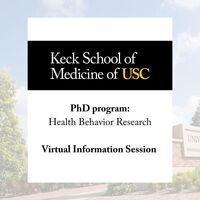 Information Session - PhD program in Health Behavior Research