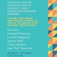 "Panel Discussion on ""Teaching English Language Arts in Troubled Times"""