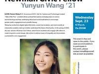Future You Speaker Series: Podcaster & Newman Civic Fellow Yunyun Wang '21