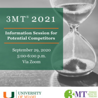 3MT 2021 Information Session for Potential Competitors