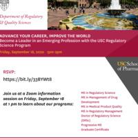 Info Session: USC Regulatory Science Program
