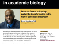 Lessons from a hot spring: Authentic transformation in the higher education classroom