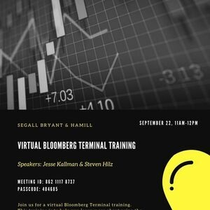 Bloomberg Terminal Demo and Investment Talk