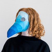 Quilted Plague Doctor Mask by Lynné Bowman Cravens