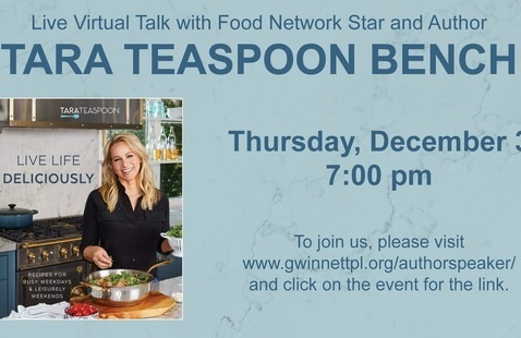 Live Virtual Talk with Food Network Star and Author Tara Teaspoon Bench