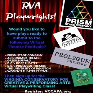 Virginia Conservatory For Creaitve And Performing Arts Virtual Playwriting Class - Ages 18+