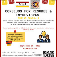 LGSA and La CASA present Consejos for Resumes y Entrevistas during COVID-19