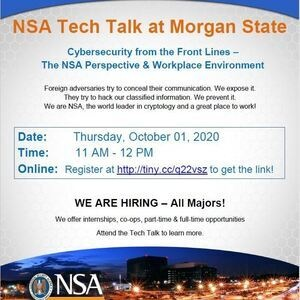 NSA Tech Talk: Open to ALL MAJORS