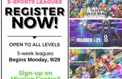 E-Sports Registration Flyer