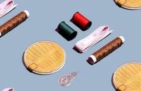 Sewing kit with needles and thread