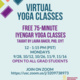 Virtual Yoga Classes Hosted by GSG