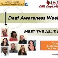 Deaf Awareness Week: American Sign Language and Interpreting (ASLIS) Program Faculty Panel Night