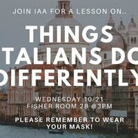 Things Italians Do Differently