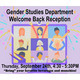 Gender Studies Welcome Back Reception