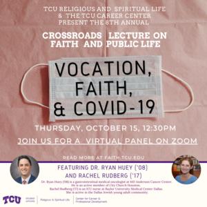 Vocation, Faith & Covid-19 graphic