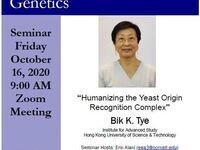 """MBG Friday Seminar: """"Humanizing the Yeast Origin Recognition Complex"""""""