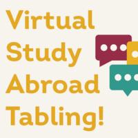 Virtual Study Abroad Tabling!
