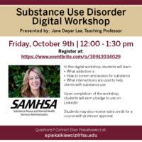 Substance Use Disorder Digital Workshop