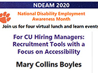 For CU Hiring Managers: Recruitment Tools with a Focus on Accessibility