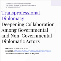 Transprofessional Diplomacy: Deepening Collaboration Among Governmental and Non-Governmental Actors