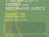SBA/IAC Webinar: An Archaeology of Redress and Restorative Justice