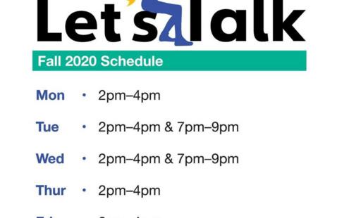 Let's Talk Schedule