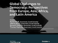 Global Challenges to Democracy: Perspectives from Europe, Asia, Africa, and Latin America