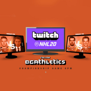 BGSU Hockey Players play NHL 20 in Tournament