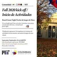 Colombian Association Fall Kick Off - Board Game Night