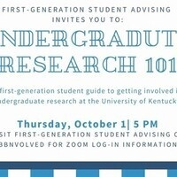 Undergraduate Research 101