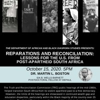 Reparations and Reconciliation: Lessons for the U.S from post-Apartheid South Africa