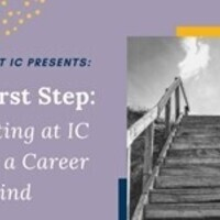 The First Step: Starting at IC with a career in mind (cc)