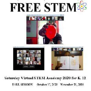 BMAA FALL 2020 Virtual STEM Academy FLyer