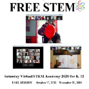 BMAA FALL 2020 Virtual STEM Academy FLyer