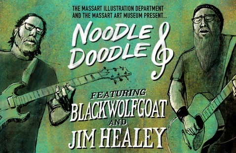 Noodle & Doodle Announcement. Courtesy MassArt Illustration Department and Robert Maloney.