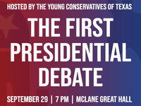 Event image for Presidential Debate - Hosted by Young Conservatives of Texas