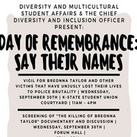Day of Remembrance: Say Their Names Come-and-Go Vigil