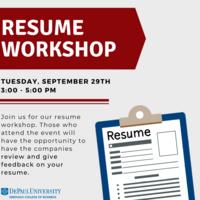 Center for Sales Leadership Resume Workshop