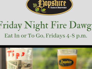 Fire Dawgs BBQ Fridays at Hopshire