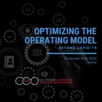 Optimizing the Operating Model Beyond COVID-19
