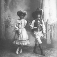 A portrait of two children: Guanajuato, Mexico, 1910, Romualdo Garcia