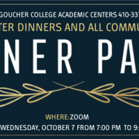 Student-Faculty Academic Center Dinners and All Community Dessert