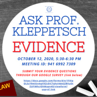 Ask Professor Kleppetsch: EVIDENCE